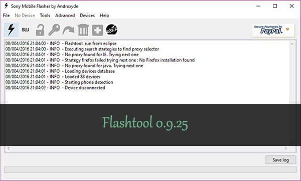Flashtool 0.9.25